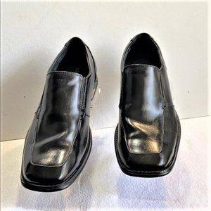 Apt 9 Black Leather Loafers Sz 12